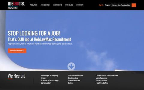 Screenshot of Home Page Locations Page roblawmax.co.nz - Engineering jobs NZ, engineering recruitment, engineering work nz - Rob Law Max recruitment - captured Oct. 9, 2014