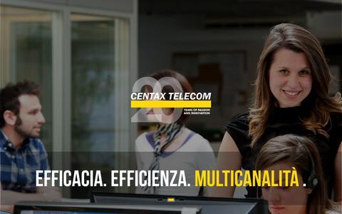Screenshot of Home Page centaxtelecom.com - Contact Center per l'Outsourcing | Centax Telecom, Bergamo - captured June 18, 2015