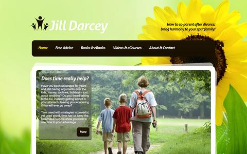Screenshot of Home Page jilldarcey.com - Jill Darcey :: Real Answers for Divorced Parents - captured Jan. 29, 2016