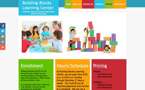 Screenshot of Pricing Page buildingblocksduluth.com - Pricing - captured Oct. 5, 2014