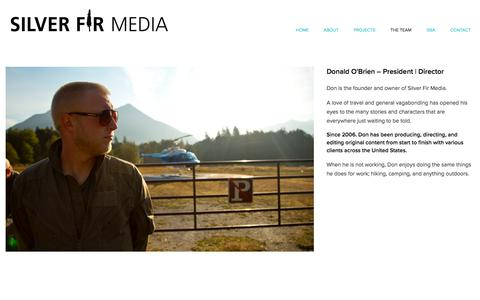 Screenshot of Team Page silverfirmedia.com - THE TEAM — Silver Fir Media - captured June 19, 2017