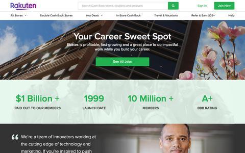 Screenshot of Jobs Page rakuten.com - Careers at Rakuten - captured Feb. 4, 2019