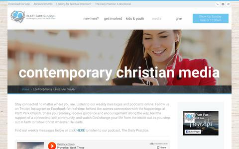 Screenshot of Press Page plattparkchurch.org - Worship Tracks | Contemporary Church Media - captured July 19, 2018
