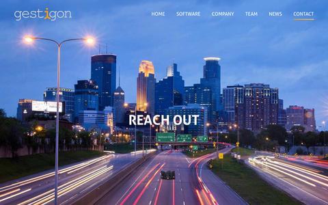 Screenshot of Contact Page gestigon.com - Contact   Get in Touch With gestigon - captured Dec. 4, 2015
