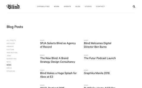 Screenshot of Press Page blind.com - News Archives - Blind - captured June 1, 2017
