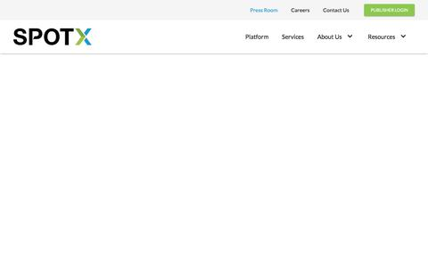 Screenshot of Press Page spotx.tv - SpotX   Press Room - captured Nov. 24, 2019