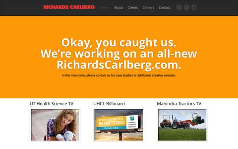 Screenshot of Home Page richardscarlberg.com - Richards/Carlberg | Houston Advertising Agency - captured Sept. 30, 2014
