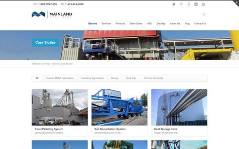 Screenshot of Case Studies Page mainlandmachinery.com - System Case Studies | Mainland Machinery - captured Nov. 6, 2018
