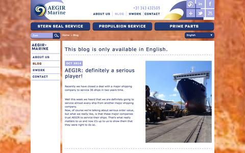 Screenshot of Blog aegirmarine.com - Blog - AEGIR-MARINE - captured Nov. 2, 2014