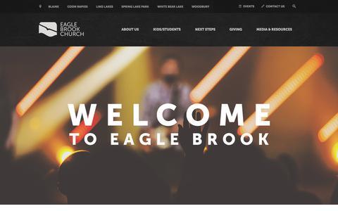 Screenshot of Home Page eaglebrookchurch.com - Home | Eagle Brook Church - captured July 18, 2015