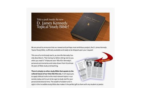 Screenshot of Landing Page djameskennedy.org - D. James Kennedy Ministries - captured Oct. 23, 2016