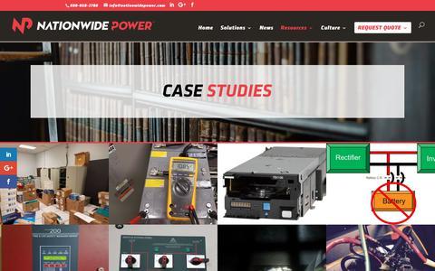 Screenshot of Case Studies Page nationwidepower.com - Case Studies - Nationwide Power - captured Oct. 27, 2017
