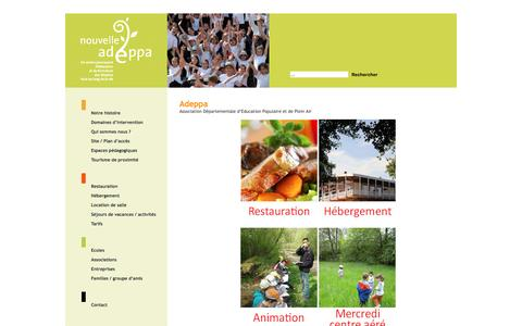 Screenshot of Home Page adeppa.eu - [Adeppa] - captured May 24, 2016