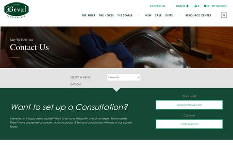Screenshot of Contact Page beval.com - Contact Us | Beval - captured Jan. 3, 2018