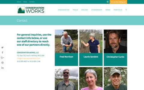 Screenshot of Contact Page conservationworksllc.com - Contact | Conservation Works - captured July 21, 2018