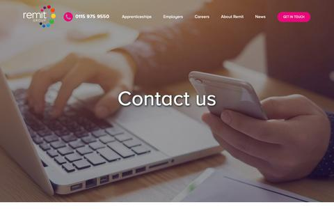 Screenshot of Contact Page remit.co.uk - Contact – Remit Group - captured Oct. 20, 2018