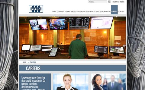 Screenshot of Jobs Page pittini.it - Careers – Gruppo Pittini - captured Nov. 2, 2014