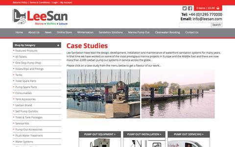 Screenshot of Case Studies Page leesan.com - LeeSan Marine Sanitation - captured Nov. 6, 2016