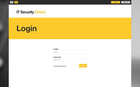 Screenshot of Login Page xylem-technologies.com - IT Security Check - Why security assessment? - captured Oct. 11, 2018