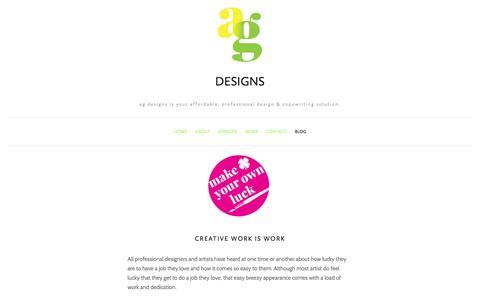 Screenshot of Blog amygaitan.com - Blog — ag designs - captured Oct. 27, 2014