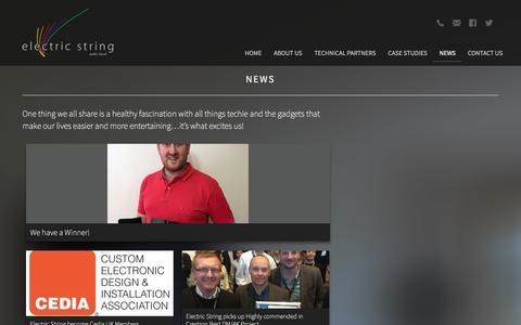 Screenshot of Press Page electric-string.com - News - Electric String Ltd - captured Jan. 27, 2016