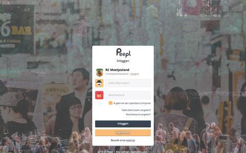 Screenshot of Login Page peepl.be - RC Meetjesland | Inloggen - captured Nov. 2, 2018