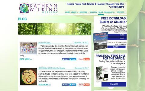 Screenshot of Blog kathrynwilking.com - BLOG Archives - KathrynWilking.com - captured Dec. 16, 2017