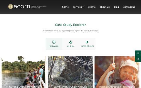 Screenshot of Services Page acorntourism.co.uk - Tourism development services - captured Dec. 18, 2018