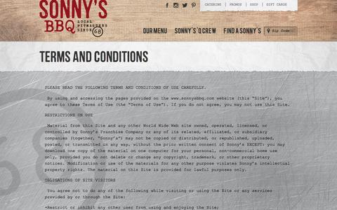 Terms and Conditions | Sonny's BBQ