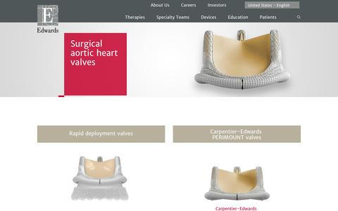 Surgical aortic heart valves | Edwards Lifesciences