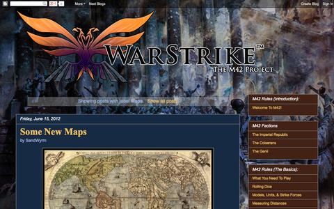 Screenshot of Maps & Directions Page warstrike.org - WarStrike: The M42 Project: Maps - captured Oct. 27, 2014