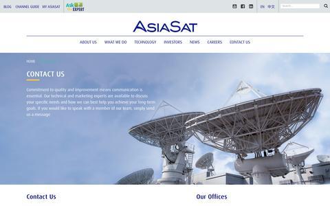 Screenshot of Contact Page asiasat.com - Contact Us | AsiaSat - captured July 3, 2016