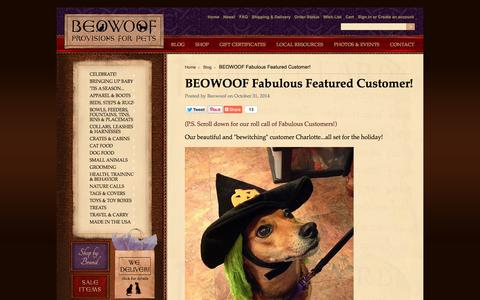 Screenshot of Press Page beowoof.com - BEOWOOF Fabulous Featured Customer! - captured Nov. 3, 2014
