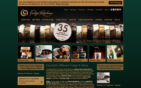 Screenshot of Home Page fudgekitchen.co.uk - Fudge Kitchen - Buy Fudge Online - captured Aug. 23, 2018