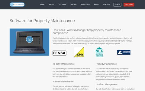 E Works Manager - Software for Properties Maintenance