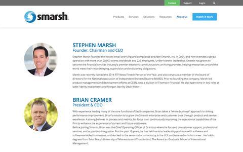 Screenshot of Team Page smarsh.com - Smarsh Management & Executive Team   Smarsh Leadership   Smarsh - captured March 19, 2018