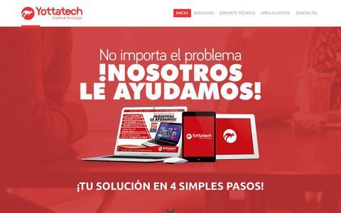 Screenshot of Home Page yottatech.com.co - Yotta Technologies SAS - captured Sept. 12, 2015