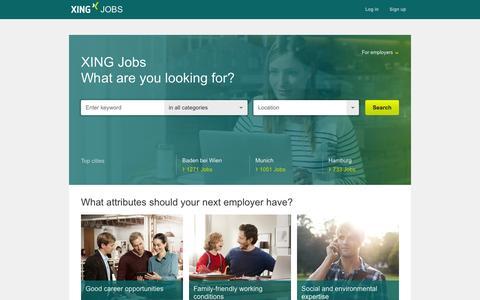 Screenshot of Jobs Page xing.com - Jobs: Find current vacancies in XING Jobs! - captured Oct. 10, 2014
