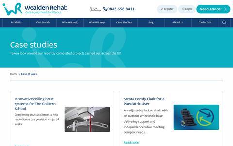 Screenshot of Case Studies Page wealdenrehab.com - Case Studies | Wealden Rehab - captured Sept. 21, 2018
