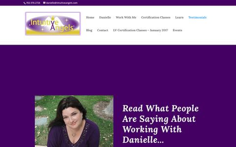 Screenshot of Testimonials Page intuitiveangels.com - Testimonials - Intuitive Angels - captured May 10, 2017