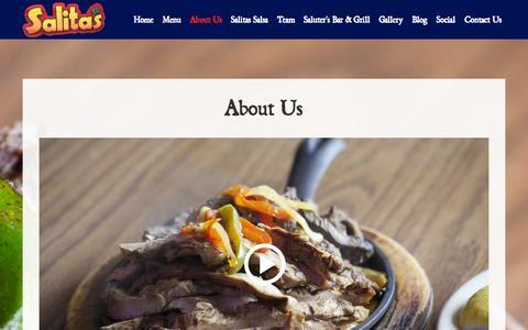 Screenshot of About Page salitas.com - About Us - Salita's - captured Oct. 4, 2014