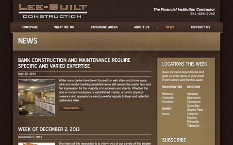 Screenshot of Press Page leebuilt.com - News | Lee-Built Construction - captured Jan. 28, 2016