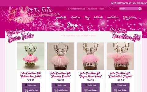 Screenshot of Products Page ettututu.com - Shop – Ettututu.comEttututu.com - captured Oct. 31, 2014