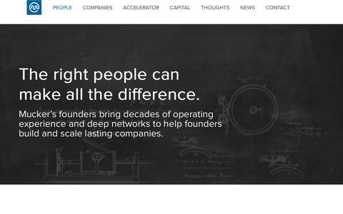 Screenshot of Team Page mucker.com - People | Mucker Capital - captured Feb. 7, 2019