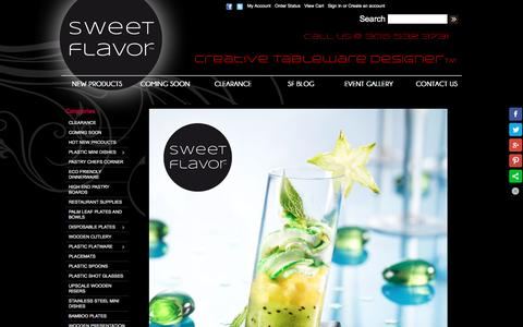 Screenshot of Home Page sweetflavorfl.com - Sweet Flavor - Creative Tableware Designer - Plastic Partyware | Plastic Mini Dishes | Disposable Plates - captured Feb. 2, 2016