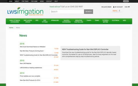 Screenshot of Press Page lws.uk.com captured Aug. 22, 2016