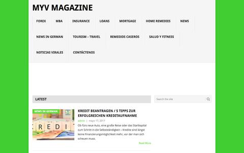 Screenshot of Home Page myvmagazine.com - Myv Magazine - Tu Revista de Interes - captured July 4, 2017