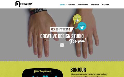 Screenshot of Home Page exsiteme.com - Exsiteme - Creative Design Studio… for you! - captured Sept. 30, 2014