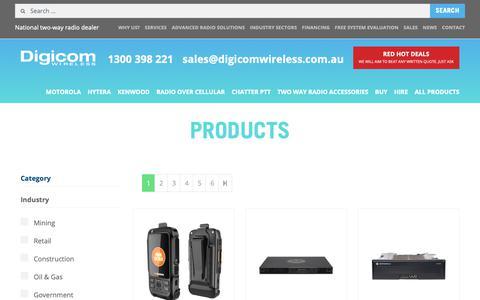 Screenshot of Products Page digicomwireless.com.au - Products Archive | Digicom Wireless - captured Oct. 9, 2018