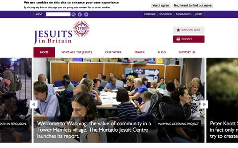 Screenshot of Home Page jesuit.org.uk - Home   Jesuits in Britain - captured Oct. 6, 2014